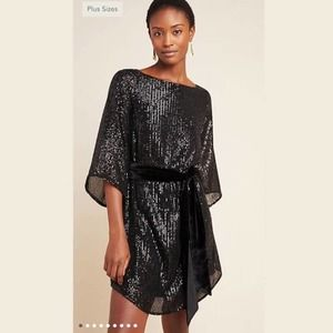 New Anthropologie Starling Sequined Tunic Dress